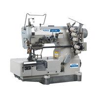 AR 500B-05 High Speed Flat Bed Elastic Lace Attaching Interlock Machine (wi h Cutter)